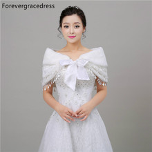 Forevergracedress Free Shipping Faux Fur Stoles Wedding Wrap Winter Wedding Bolero Jacket Bridal Accessories Cape In Stock