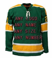 Buy Cheap Custom Hockey Design Wholesale ICE Hockey Jerseys Replica Mens Vintage Jersey green XXS-6XL Free Shipping