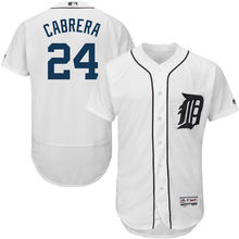 MLB Men's Detroit Tigers Miguel Cabrera Baseball Home White Flex Base Authentic Collection Player Jersey(China)