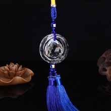Car Pendant Chinese Style Crystal Gourd Auto Hanging Ornament Lucky Blessing Safe Automobile Interior Decoration Car Accessories(China)