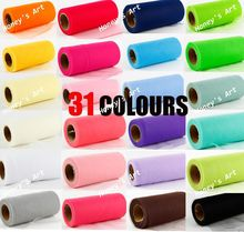 Pick Color Matt TULLE Roll Spool 6 inch x 25 yard (6 inch x 75 ft) Tutu Wedding Decorations Gift Party Bow 20D 31 Colors