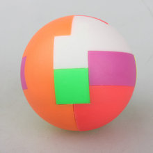 2017 New 5cm Colorful Ball Shape Kong Ming Lock Luban Ball Assembled Magic Cube Brain Teaser Educational Toys