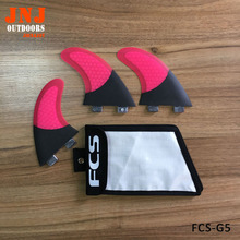 Half carbon fiber Pink color surfboard fin FCS G5 M fins with honeycomb and bags