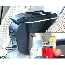 12V 6L Portable Mini Warm Cool Vehicle Refrigerator Car Freezer Fridge Hot And Cold Double Function For Car And Home