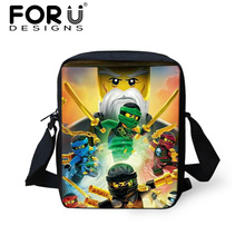 FORUDESIGNS Ninjago Schoolbag Cartoon 3D Printing Children School Bags Small Kids Boys Backpack Book Bags Kindergarten Baby
