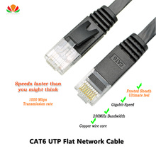 33ft 10m CAT6 Ethernet cable flat UTP CAT6 network cable Gigabit Ethernet Patch Cord RJ45 network twisted pair GigE Lan cable