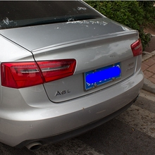 For Audi A6 C7 Spoiler 2011 2012 2013 2014 2015 2016 Exterior ABS Plastic Unpainted Primer Color Rear Boot Trunk Wing Spoiler(China)
