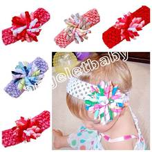 20pcs  Waffle Crochet headband bows korker Hair clip hair barrettes girl corker hair bands Christening Woven headband  PD011