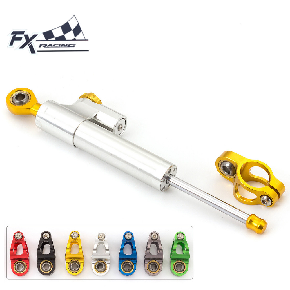 FX CNC Universal Aluminum Motorcycle Damper Steering Stabilize Linear Reversed Safety For HONDA CB1300 CB1000R CBR600RR F4I <br>