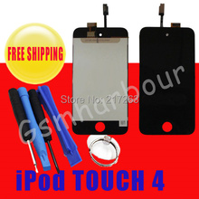New FOR iPod Touch 4th Gen Digitizer Touch Glass and LCD DISPLAY SREEN REPLACE PART + Free tools Free shipping