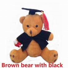 Hot plush doctor bear 6pcs 12cm Dr. Bear learn to read Bear plush toy doll graduation gifts(China)