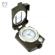 Professional Multifunction Military Army Metal Sighting Compass High Accuracy Waterproof Compass Green Color ZS(China)