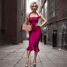 Newest Celebrity Party Bandage Dress Women Spaghetti Strap Strapless Sexy Night Club Dress Women Mermaid Vestidos Wholesale