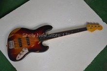 Shelly new store Alder body old used vintage relic faded ebony fretless fingerboard electric bass guitar musical instrument shop
