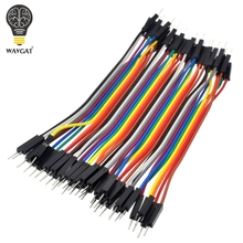 40pcs/lot 10cm 2.54mm 1pin Male to Male jumper wire Dupont cable for WAVGAT