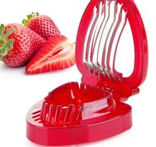 Strawberry Slicer Plastic Fruit Carving Tools Salad Cutter Kitchens Gadgets Accessories Tools Cutter Stainless Steel Blade Slice