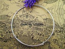 18pcs of Silver Adjustable Bangle Bracelets, Basic Bracelet, Bangle Bracelet Set, Charm Bracelet Base, Wire Bangle Diamete 65mm