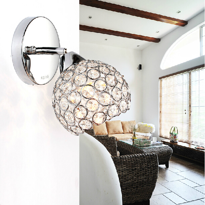 40W Crystal Wall Lamp/Bedside Lamp/AC110v/220v Wall sconce Indoor Lighting E14 Lamps/Hall Walkway Living Room Light Fixture<br><br>Aliexpress