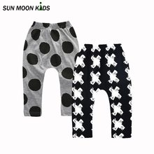 Sun Moon Kids 2Pieces/Lot boy girls clothes baby boys pants toddler girls clothing cotton girls pants autumn children trousers