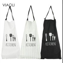 Viaoli Women and men Chef Uniform New Rushed Cotton Polyester Simple and clean Aprons(China)