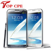 original samsung Galaxy Note II 2 N7100 EU version Refurbished N7105 8.0MP camera GPS Android 4.1 phone WIFI Free shipping(China)