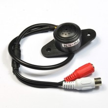 Mini CCTV Microphone for Security Camera Audio Surveillance DVR, CCTV Mic Audio Cable 12V, Audio Receiver