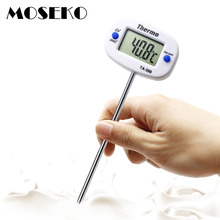 MOSEKO Rotatable Digital Food Thermometer BBQ Meat Chocolate Oven Milk Water Oil Cooking Kitchen Thermometer Electronic Probe(China)