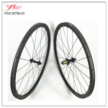 Super light !! 700C carbon tubular wheels , Taiwan Bitex hubs 30mm x 23mm width in 20H/24H , UD matt with 18 months warranty(China)