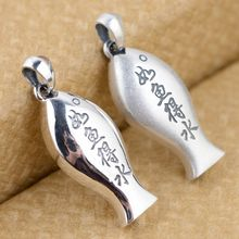 S990 fine silver whistle pendant pendant wholesale lotus lovers can be sounded lettering feel just like a fish in water