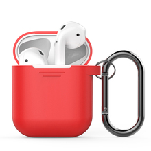 Ahastyle For Apple Airpods Silicone Case Soft Cover with Dust Plug Ultra Thin Protector Case Sleeve Pouch for Air pods Earphone(China)