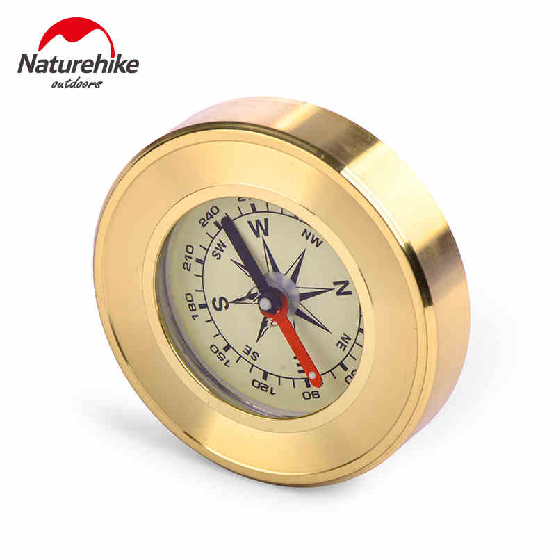 NatureHike Mini Military Camping Marching Lensatic Compass Magnifier Gold Survival Products(China (Mainland))