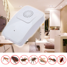 White Ultrasonic Indoor Pest Control Mouse Rat Traps Electronic Mouse Repeller Cockroach Rat Mice Mosquito Killer(China)