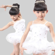 Little Swan Ballet Dress Girl Children White Swan Children's Day Performance Dance Costume Clothing Children Swan Lake Clothing