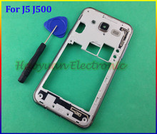 100% New Original Middle plate frame bezel housing+side button+camera glass lens+Tool For Samsung Galaxy J5 J500
