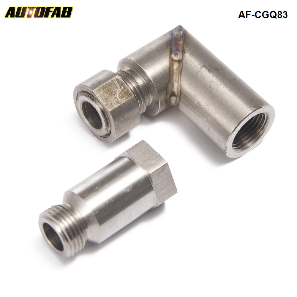 Car O2 Oxygen Sensor Angled Extender Spacer 90 Degree O2 Bung Extension M18 X 1.5 For exhaust systems AF-CGQ83