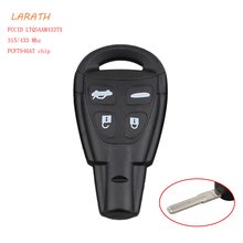 LARATH 315/433Mhz LTQSAAM433TX New Key Fob Keyless Entry Car Remote Control Replacement for Saab 9-3 9-5 2003-2010