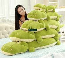 Dorimytrader 43'' / 110cm Large Animal Crocodile Plush Toy Stuffed Soft Cartoon Alligator Pillow Doll Free Shipping DY61233(China)