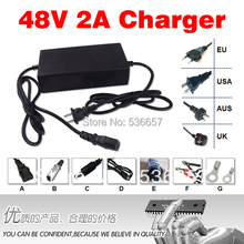 Free Shipping 48V 2A Charger Used For 48V Electric Bicycle Battery Charge 54.6V 2a lithium battery charger 48v2a charger(China)