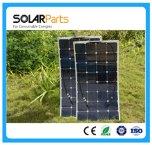 Solarparts 2x 100W fexible solar panel 12V high efficiency solar cell yacht boat marine RV solar module for battery charge cheap