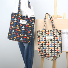 YILE Autumn Winter Triangle Corduroy Shoulder Bag Eco Shopping Tote ZT9-05(China)
