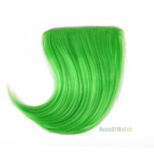 Fashion Green Hair Extensions Bangs (NWG0HE60943-GR2)