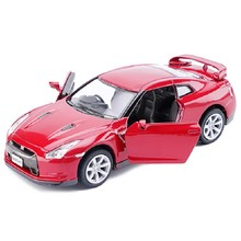 Brand New KiNSMART 1/36 Scale Japan Nissan GTR35 Diecast Metal Car Model Toy For Baby Birthday Gift Toys Collection(China)