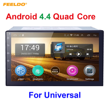 7inch Android 4.4.2 Quad Core Car Media Player With GPS Navi Radio For Nissan/Hyundai Universal 2DIN ISO +Random Gift