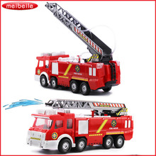 Spray Water Gun Toy Truck Firetruck Juguetes Fireman Sam Fire Truck Vehicles Car Music Light Cool Educational Toys for Boys Kids