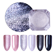 Diamond Pearl Nail Glitter Powder Mirror Mermaid Shining Manicure Pigment Dust 6 Colors Nail Art Decoration Accessories for DIY(China)