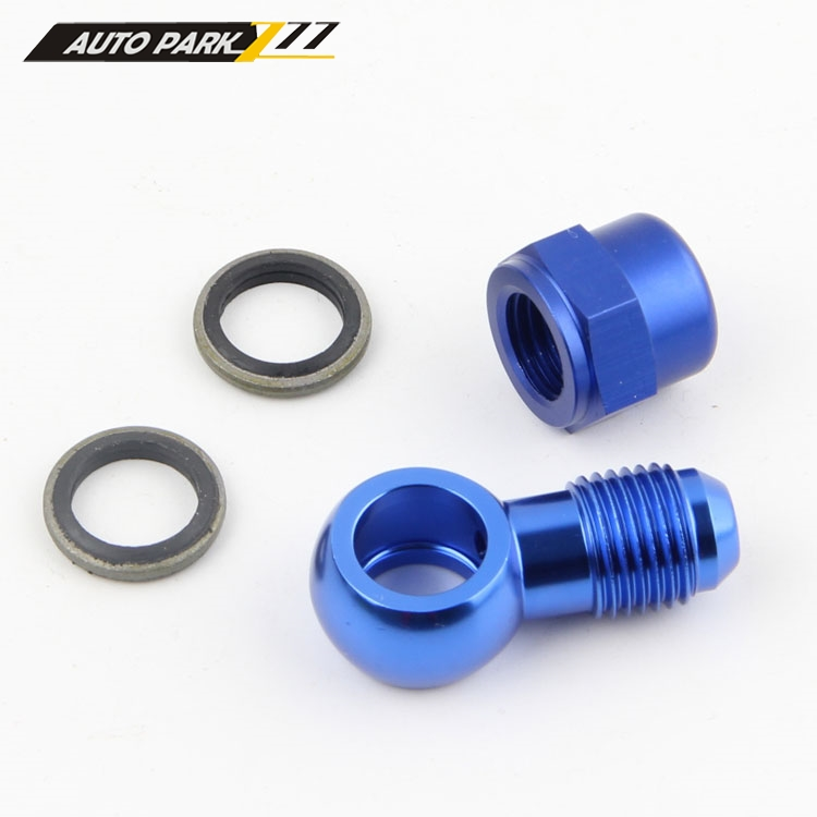 Engine, Tuning & Chips Black Vehicle Parts & Accessories AN6 6AN to 14.5mm Aluminium Banjo Fitting Adapter With Sealing Washers