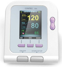 Health Monitor CE FDA CONTEC08A Digital BP Monitor+Adult Cuff+Child /Infant/Neonate Cuff+Adult SpO2 Probe(China)