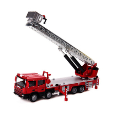 KDW Ladder Fire Truck 1/50 Scale Diecast Car Model Toys Fire Truck Construction Vehicle Toys For   Children Christmas Gifts Coll