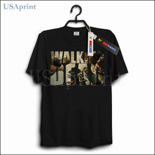 USAprint The Walking Dead Tee Shirts Homme Graphic T-shirts Men Clothing Fashion Logo Custom Cotton Muscle Casual Camisetas Male