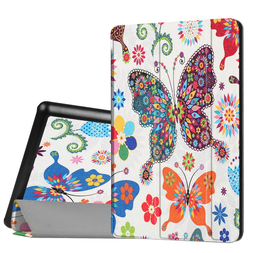 Ultra Slim Print Magnetic 3-Folding Stand PU Leather Cover Case For Amazon New Kindle Fire HD 8 HD8 (2016 8th generation) Tablet<br><br>Aliexpress